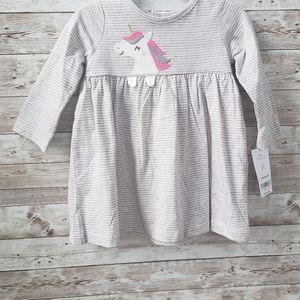 Carters long Sleeve Unicorn infant dress